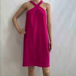 NWT. Katherine Kelly sleeveless fuchsia mini dress